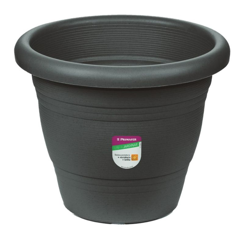 VASO-JARDIM-PLASTICA-35CM-CINZA-PRIMAFER