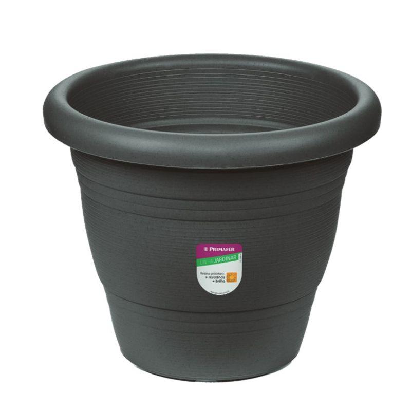 VASO-JARDIM-PLASTICA-28CM-CINZA-PRIMAFER
