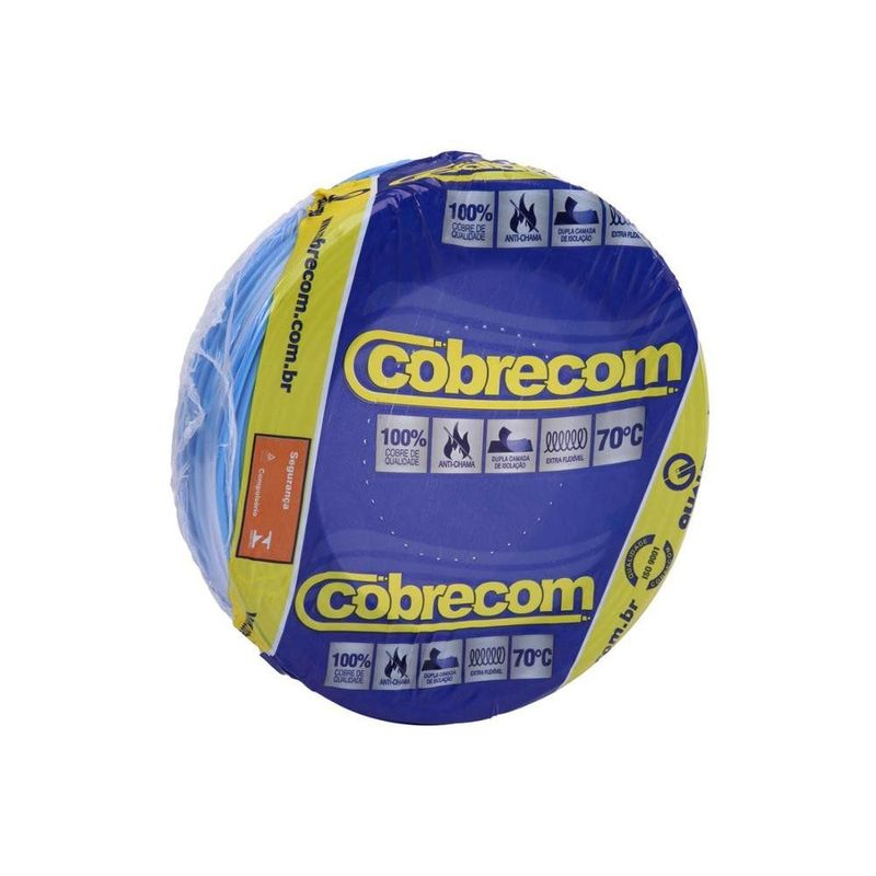 FIO-FLEXIVEL-6MM-AZUL-CLARO-50M-COBRECOM