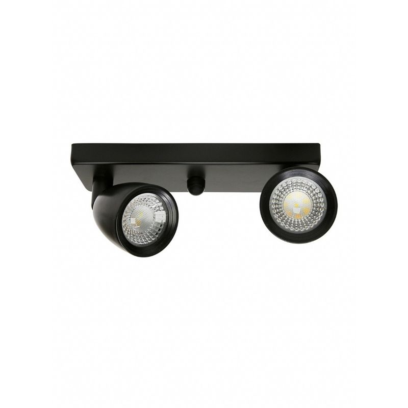 SPOT-LED-DIRECT-LINEAR-2X8W-MR16-PRETO-3000K-TASCHIBRA